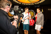 Rotterdam, The Netherlands, February 13, 2016,  ABNAMROWTT, Nicolas Mahut (FRA) - Vasek Pospisil (CAN)<br /> Photo: Tennisimages/Henk Koster