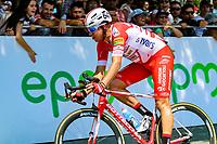 MEDELLIN - COLOMBIA, 15-02-2019: Julian Cardona (COL), Androni Giocattoli-Sidermec, durante la cuarta etapa del Tour Colombia 2.1 2019 con un recorrido de 144 Km, que se corrió con salida y llegada en el estadio Atanasio Girardot de la ciudad de Medellín. / Julian Cardona (COL), Androni Giocattoli-Sidermec, during the four stage of 144 km of Tour Colombia 2.1 2019 that ran with start and arrival in Atanasio Girardot stadium in Medellin city.  Photo: VizzorImage / Anderson Bonilla / Cont