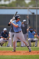 Tampa Bay Rays Jordyn Muffley (69) bats during a Minor League Spring Training game against the Baltimore Orioles on April 23, 2021 at Charlotte Sports Park in Port Charlotte, Florida.  (Mike Janes/Four Seam Images)