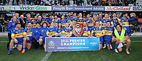 Taieri celebrate winning the Dunedin Premier club rugby final between Green Island and Taieri played at Forsyth Barr Stadium in Dunedin, on Saturday 31st July, 2021. © John Caswell/Caswell Images
