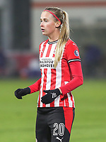 Julie Biesmans (20 PSV) pictured during a female soccer game between PSV Eindhoven Vrouwen and Barcelona, in the round of 32, 1st leg of Uefa Womens Champions League of the 2020 - 2021 season , Wednesday 9th of December 2020  in , Eindhoven, the Netherlands. PHOTO SPORTPIX.BE | SPP | SEVIL OKTEM