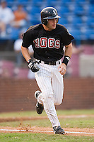 Winston-Salem catcher Matt Sharp (27) hustles down the first base line versus Frederick at Ernie Shore Field in Winston-Salem, NC, Wednesday, August 15, 2007.