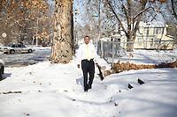 John visiting the North Omaha neighborhood where he grew up.