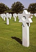 Carthage, Tunisia. American World War II Cemetery.  Jewish Grave.  Woman.  Star of David.