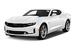 2019 Chevrolet Camaro 1LT 2 Door Coupe angular front stock photos of front three quarter view