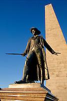 William Prescott statue, Bunker Hill monument, Charlestown, MA