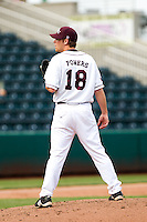 Jake Powers (18) of the Missouri State Bears during a game vs. the Western Illinois Leathernecks at Hammons Field in Springfield, Missouri;  March 20, 2011.  Photo By David Welker/Four Seam Images
