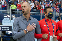 KANSAS CITY, KS - JULY 11: Head coach Gregg Berhalter of the United States during a game between Haiti and USMNT at Children's Mercy Park on July 11, 2021 in Kansas City, Kansas.