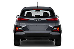 Straight rear view of 2020 Hyundai Kona SE 5 Door SUV Rear View  stock images