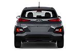 Straight rear view of 2020 Hyundai Kona SE 5 Door SUV Rear View  stock images