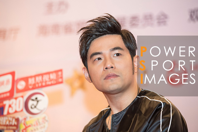 Singer Jay Chou gives a press conference on the sidelines of World Celebrity Pro-Am 2016 Mission Hills China Golf Tournament on 20 October 2016, in Haikou, China. Photo by Weixiang Lim / Power Sport Images