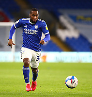 26th December 2020; Cardiff City Stadium, Cardiff, Glamorgan, Wales; English Football League Championship Football, Cardiff City versus Brentford; Junior Hoilett of Cardiff City chases the through ball
