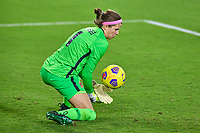 18th February 2021, Orlando, Florida, USA;  Canada goalkeeper Stephanie Labbe (1) makes a save during a SheBelieves Cup game between Canada and the United States on February 18, 2021 at Exploria Stadium in Orlando, FL.