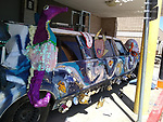 Sam Houston MSTC is redoing a limousine with art teacher Wendy Bejarano and many other teachers, students and staff.