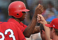 August 1, 2009: Outfielder Michael Swinson (10) of the Johnson City Cardinals, rookie Appalachian League affiliate of the St. Louis Cardinals, in a game at Howard Johnson Field in Johnson City, Tenn. Photo by: Tom Priddy/Four Seam Images