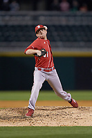 North Carolina State Wolfpack relief pitcher Will Gilbert (51) in action against the Charlotte 49ers at BB&T Ballpark on March 29, 2016 in Charlotte, North Carolina. The Wolfpack defeated the 49ers 7-1.  (Brian Westerholt/Four Seam Images)