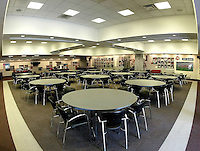 The recruiting center at Ohio Stadium contains tables for entertaining as well as photos and awards hanging on the walls Thursday, May 20, 2004 in Columbus, Ohio.