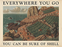 BNPS.co.uk (01202 558833)<br /> Pic: Lyon&Turnbull/BNPS<br /> <br /> Pictured: The coast at Lamorna in Cornwall was part of the, 'You can be sure of Shell' campaign.<br /> <br /> A vast collection of vintage Shell posters have sold at auction for almost £60,000.<br /> <br /> The group of 49 sheets were sold directly from the oil giant's archives and featured some incredibly rare designs from down the years.<br /> <br /> All of the posters had previously been used in Shell advertising campaigns, dating back to between the 1920s and 1950s.<br /> <br /> Many of the colourful designed featured the slogan 'You can be sure of Shell' and list people who preferred their fuel.