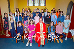 The former students of Spa NS at the Confirmation in the Church of the Purification in Churchill on Saturday. l to r: Seated, Fr Francis Nolan, Back row l to r: Peter Lenihan (Principal), Mary Griffin Crowe and Éilíse O'Donoghue.