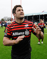 20130324 Copyright onEdition 2013©.Free for editorial use image, please credit: onEdition..Brad Barritt of Saracens after winning the Premiership Rugby match between Saracens and Harlequins at Allianz Park on Sunday 24th March 2013 (Photo by Rob Munro)..For press contacts contact: Sam Feasey at brandRapport on M: +44 (0)7717 757114 E: SFeasey@brand-rapport.com..If you require a higher resolution image or you have any other onEdition photographic enquiries, please contact onEdition on 0845 900 2 900 or email info@onEdition.com.This image is copyright onEdition 2013©..This image has been supplied by onEdition and must be credited onEdition. The author is asserting his full Moral rights in relation to the publication of this image. Rights for onward transmission of any image or file is not granted or implied. Changing or deleting Copyright information is illegal as specified in the Copyright, Design and Patents Act 1988. If you are in any way unsure of your right to publish this image please contact onEdition on 0845 900 2 900 or email info@onEdition.com