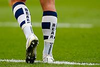 21st March 2021; Franklin's Gardens, Northampton, East Midlands, England; Premiership Rugby Union, Northampton Saints versus Bristol Bears; Detail of the Bristol Bears socks