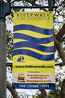 Ft. Lauderdale, Florida.  Riverwalk Banner.
