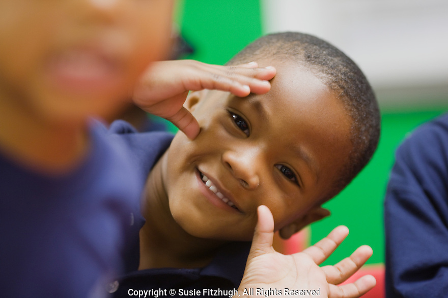 Children at the Clear Head Learning Center, New Orleans LA: