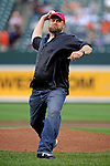 Baltimore, MD- May 15: Baltimore, MD- May 15: Doug O'Neill trainer of 138th Kentucky Derby Winner I'll Have Another throws out the first pitch at Oriole Park at Camden Yards during the New York Yankees v Baltimore Orioles in Baltimore, MD on 05/15/12. (Ryan Lasek/ Eclipse Sportswire)