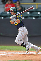 Beloit Snappers Jean Carlo Rodriguez (4) swings during the Midwest League game against the Clinton LumberKings at Ashford University Field on June 12, 2016 in Clinton, Iowa.  The LumberKings won 1-0.  (Dennis Hubbard/Four Seam Images)