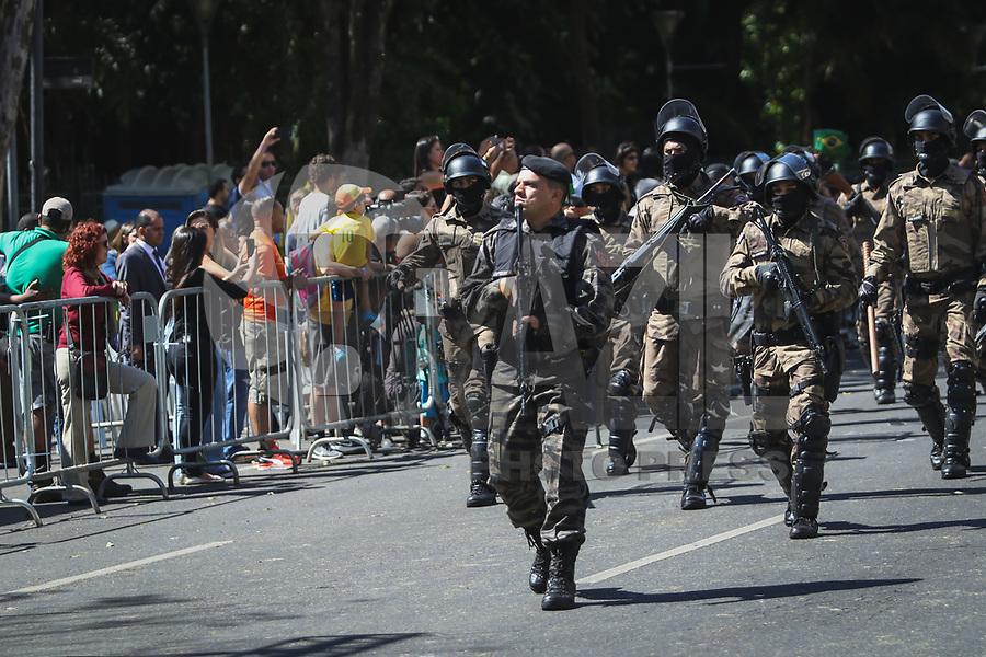 BELO HORIZONTE, MG, 07.09.2018 - DESFILE-7 SETEMBRO - Desfile comemorativo a Independência do Brasil ,de 7 de setembro, na avenida Afonso Pena, região da central, de Belo Horizonte, nesta sexta-feira, 07. (Foto: Doug Patricio/Brazil Photo Press)
