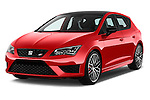 2016 Seat Leon CUPRA 280 5 Door Hatchback Angular Front stock photos of front three quarter view