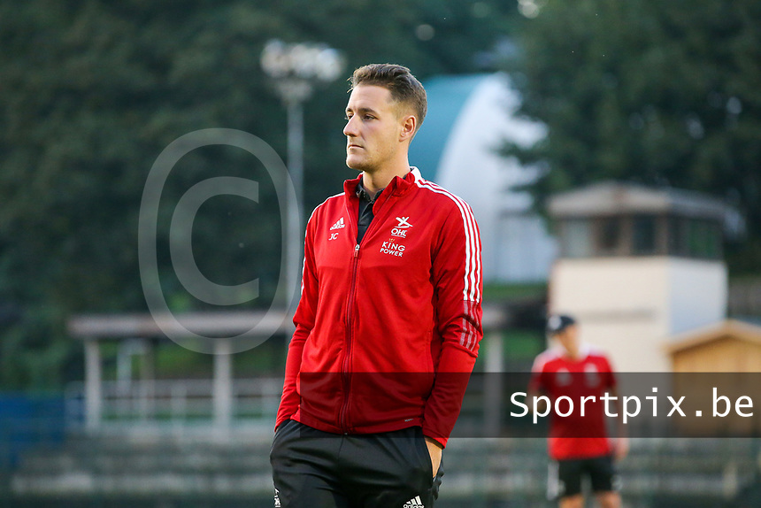 Head coach Jimmy Coenraets of OHL pictured before  a female soccer game between FC Femina White Star Woluwe and Oud Heverlee Leuven on the fourth matchday in the 2021 - 2022 season of Belgian Scooore Womens Super League , Friday 10 th of September 2021  in Woluwe , Belgium . PHOTO SPORTPIX | SEVIL OKTEM
