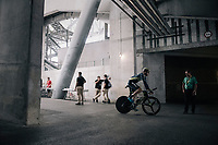 Mathew Hayman (AUS/Orica-Scott) entering the Orange Vélodrome for the start of his recon<br /> <br /> 104th Tour de France 2017<br /> Stage 20 (ITT) - Marseille › Marseille (23km)