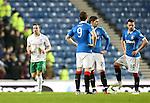 Rangers dejection after Lewis Stevenson scores