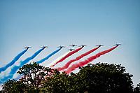 Patrouille de France fly-over<br /> <br /> Stage 21 (Final) from Chatou to Paris - Champs-Élysées (108km)<br /> 108th Tour de France 2021 (2.UWT)<br /> <br /> ©kramon