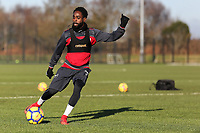 Nathan Dyer crosses the ball during the Swansea City Training at The Fairwood Training Ground, Swansea, Wales, UK. Thursday 11 January 2018