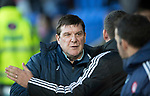St Johnstone v Hamilton Accies…28.03.18…  McDiarmid Park    SPFL<br />Tommy Wright greets Martin Canning<br />Picture by Graeme Hart. <br />Copyright Perthshire Picture Agency<br />Tel: 01738 623350  Mobile: 07990 594431