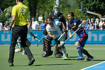 GER - Mannheim, Germany, May 27: During the men semi-final match between Uhlenhorst Muehlheim and Mannheimer HC at the Final4 tournament May 27, 2017 at Am Neckarkanal in Mannheim, Germany. (Photo by Dirk Markgraf / www.265-images.com) *** Local caption *** Paul Zmyslony #13 of Mannheimer HC