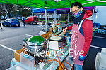 Marie Charland making crepes at her stall at the Farmers Market on Saturday morning.