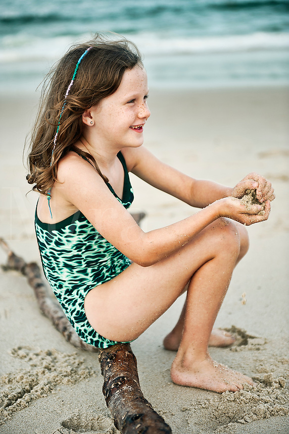 Young girl at the beach.