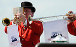 6 June 09:  Buglers at Belmont Park in Elmont, New York on Belmont Stakes Day