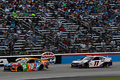 #18: Kyle Busch, Joe Gibbs Racing, Toyota Camry M&M's Summering, #11: Denny Hamlin, Joe Gibbs Racing, Toyota Camry FedEx Office