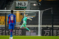 30th October 2020; Molineux Stadium, Wolverhampton, West Midlands, England; English Premier League Football, Wolverhampton Wanderers versus Crystal Palace; Vicente Guaita, goalie of Crystal Palace tips the ball over the bar