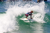 American Tanner Gudauskas redirecting during round of 96 at the 2010 US Open of Surfing in Huntington Beach, California on August 4, 2010.