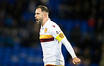 St Johnstone v Motherwell…..12.02.20   McDiarmid Park   SPFL<br />Motherwell skipper Peter Hartley shows his frustration as he shouts at his team mates<br />Picture by Graeme Hart.<br />Copyright Perthshire Picture Agency<br />Tel: 01738 623350  Mobile: 07990 594431