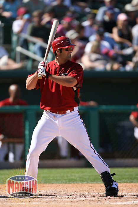 TUCSON - MARCH 13:  Conor Jackson of the Arizona Diamondbacks in action against the Chicago Cubs during their spring training game at Tucson Electric Park in Tucson, AZ on March 13, 2007. Photo by Brad Mangin