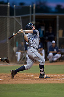 AZL Padres 1 designated hitter Nick Gatewood (33) follows through on his swing during an Arizona League game against the AZL Padres 2 at Peoria Sports Complex on July 14, 2018 in Peoria, Arizona. The AZL Padres 1 defeated the AZL Padres 2 4-0. (Zachary Lucy/Four Seam Images)