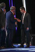 GERALD DARMANIN (MINISTRE DE L'ACTION ET DES COMPTES PUBLICS) - LA SEANCE DE CLOTURE DU 100EME CONGRES DES MAIRES DE FRANCE A PARIS, FRANCE, LE 23/11/2017.