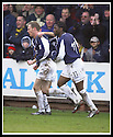 01/02/2003                   Copyright Pic : James Stewart.File Name : stewart-falkirk v st john 17.COLLIN SAMUEL (REAR) AND MARK KERR (HIDDEN) CONGRATULATE JOHN HENRY AFTER HE SCORED FALKIRK'S EQUALISER.....James Stewart Photo Agency, 19 Carronlea Drive, Falkirk. FK2 8DN      Vat Reg No. 607 6932 25.Office     : +44 (0)1324 570906     .Mobile  : +44 (0)7721 416997.Fax         :  +44 (0)1324 570906.E-mail  :  jim@jspa.co.uk.If you require further information then contact Jim Stewart on any of the numbers above.........