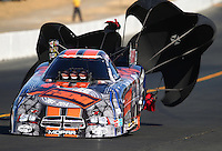 Jul. 26, 2014; Sonoma, CA, USA; NHRA funny car driver Matt Hagan during qualifying for the Sonoma Nationals at Sonoma Raceway. Mandatory Credit: Mark J. Rebilas-